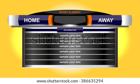 scoreboard sport chart design for football soccer, vector illustration