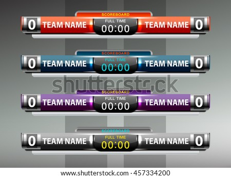 Scoreboard Template Football Or Soccer Scoreboard Template Vector