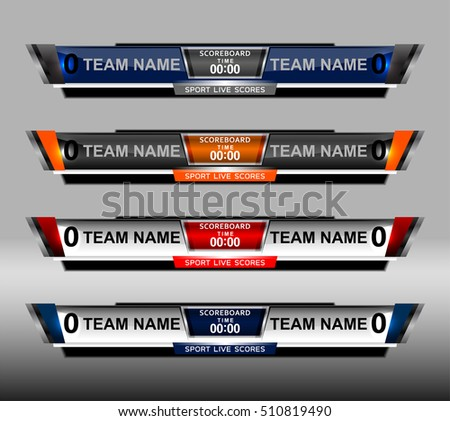 Football Scoreboard Stock Images, Royalty-Free Images & Vectors