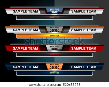 Scoreboard Sport Template Football Soccer Vector Vector – Scoreboard Sample