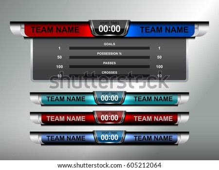 Scoreboard Template Football Or Soccer Scoreboard Template – Scoreboard Sample