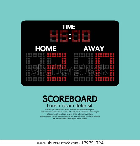 Scoreboard Sport Vector Illustration - stock vector