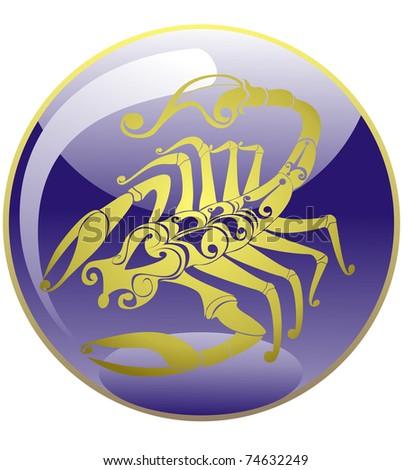 scorpio. Astrology sign. Vector zodiac icon - stock vector