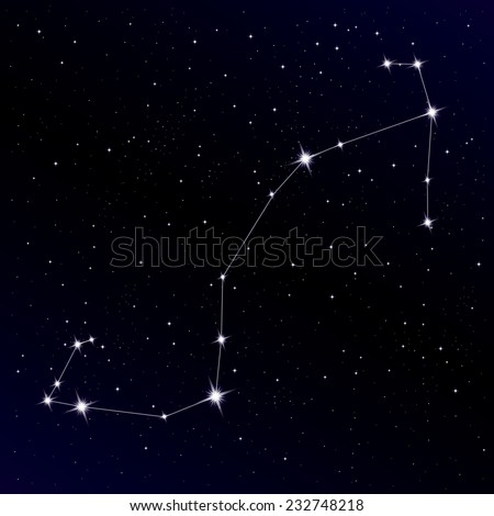 Scorpio constellation - stock vector