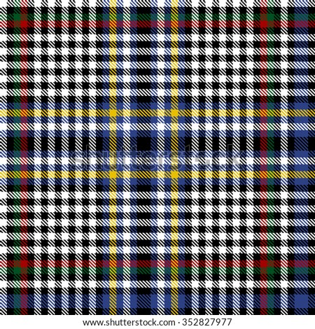 Scottish Tartan Seamless pattern background illustration