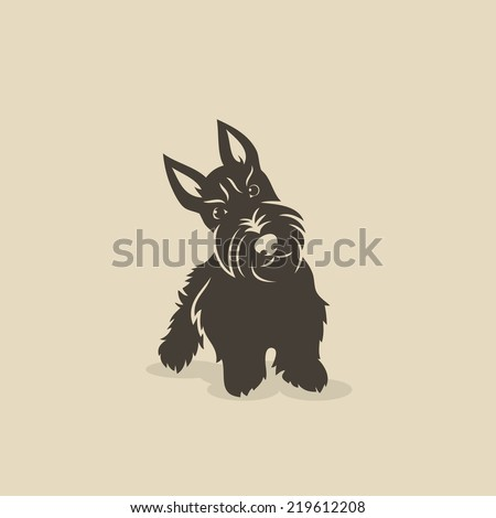 Scottish terrier - vector illustration - stock vector