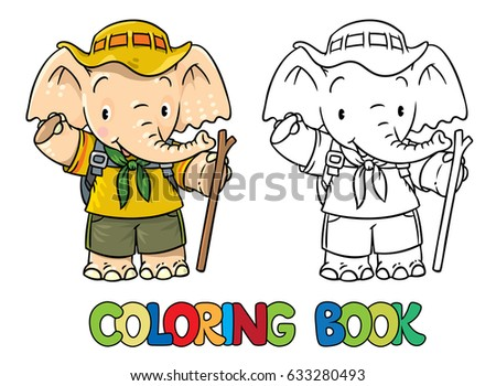 little baby elephant coloring book