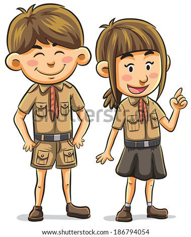 Scouts  - stock vector