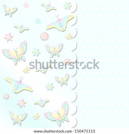 scrabbook card  with butterflies