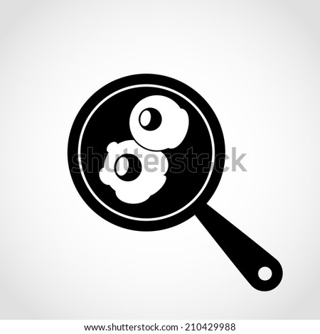 Scrambled eggs Icon Isolated on White Background - stock vector