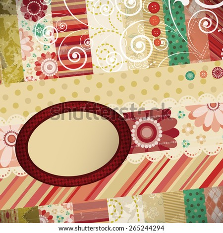 Scrap patchwork background. - stock vector