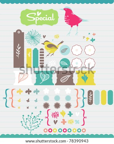 scrapbook collection for party- birthday card and more