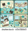 Scrapbook elements, vector - stock vector