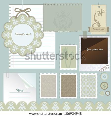 Scrapbook elements. Vector illustration. - stock vector