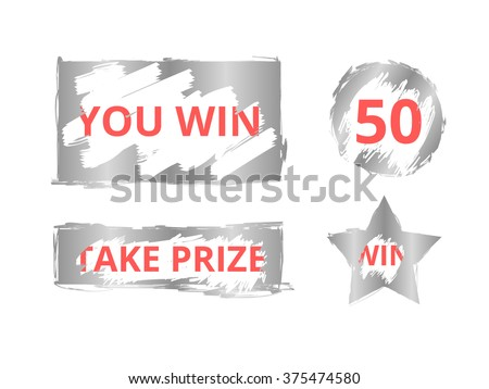 Scratch card. Scratch icon on white background. Letters scratch with effect from scratch marks. Scratch and win concept. Scratch Vector illustration. Scratch card icon. Scratch card background - stock vector
