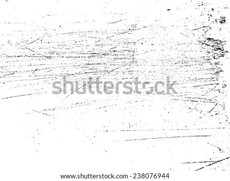 Scratch Distress Overlay Grunge Dirt Texture , Simply Place Texture over any Object to Create Distressed Effect .  - stock vector