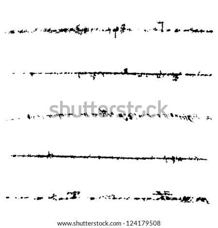 Scratched vector brush set. EPS10. - stock vector