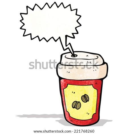 screaming hot coffee cartoon - stock vector