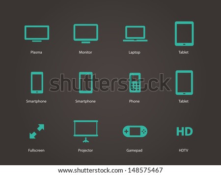 Screens icons. Vector illustration.