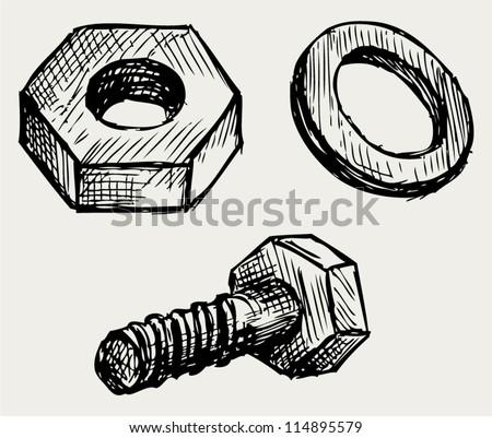 How to draw a nut autocad