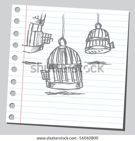 Scribble bird cages