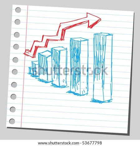Scribble business diagram - stock vector