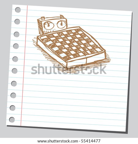 Scribble chess table - stock vector