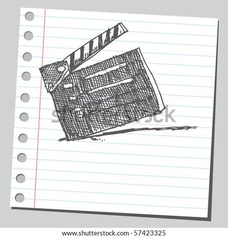 Scribble clapboard - stock vector