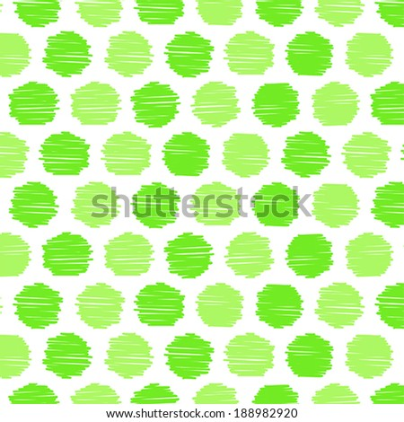 Scribble Dots Pattern - stock vector