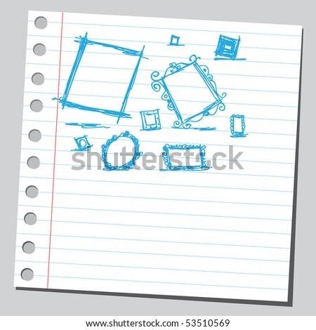 Scribble frames - stock vector