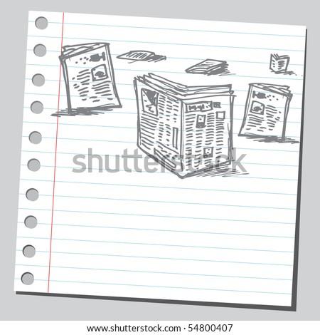 Scribble newspapers - stock vector