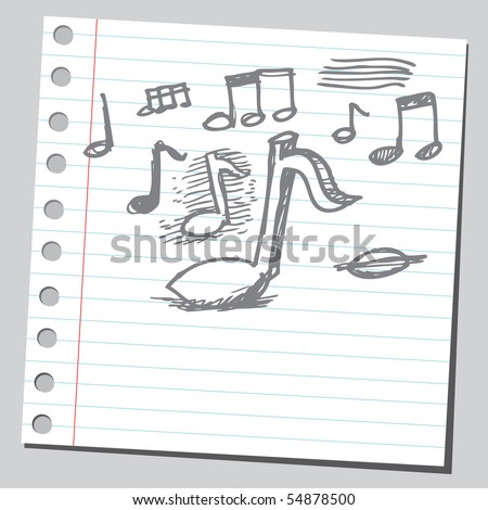Scribble notes - stock vector