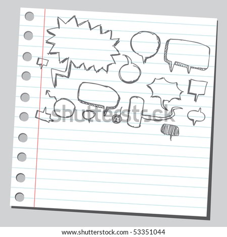 Scribble speech-bubble - stock vector