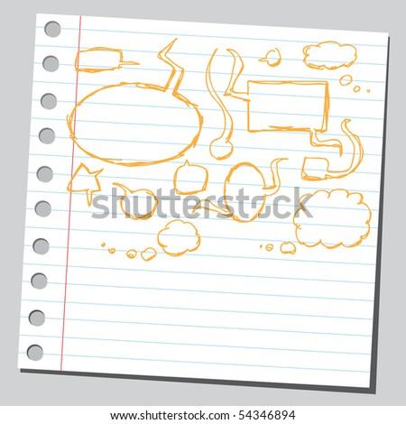 Scribble speech bubbles - stock vector