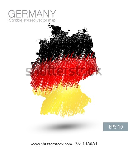 Symbol Poster Banner Germany Map Germany Stock Vector - Germany map eps