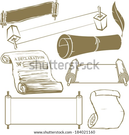 Scroll Collection - stock vector
