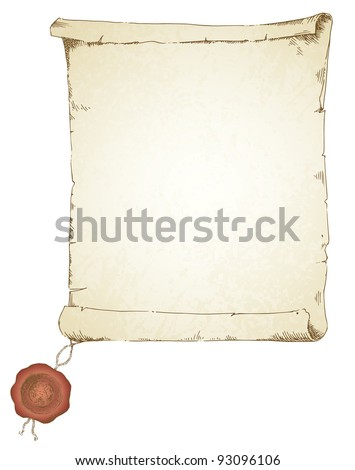 scroll - hand drawn collection - stock vector
