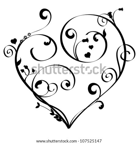 Heart Scroll Decoration Stock Images, Royalty-Free Images ...