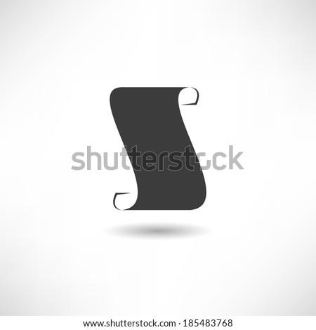 Scroll icon - stock vector