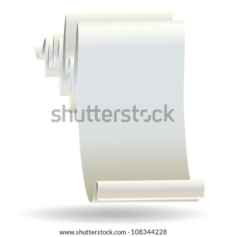 Scroll paper background, EPS 10 vector - stock vector