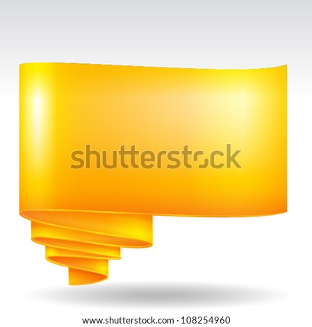 Scroll paper label background, EPS 10 vector - stock vector