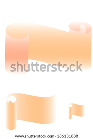 scroll soft  - stock vector