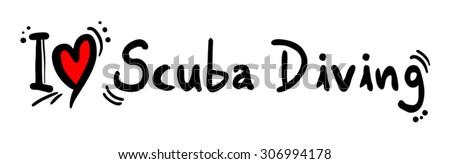 Scuba Diving love - stock vector