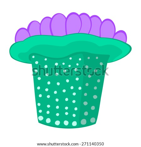 Sea anemone vector illustration Tropical sea life theme illustration Under the sea animals vector illustration  - stock vector