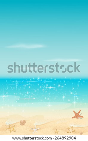 sea background - stock vector