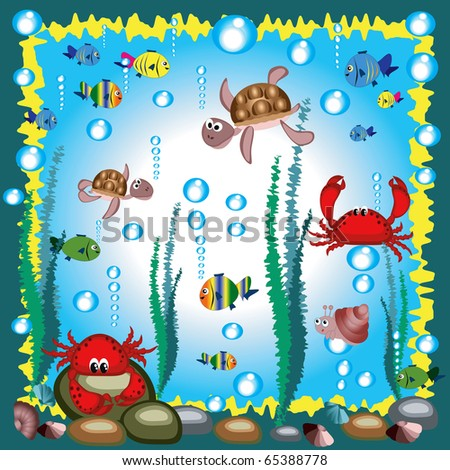 Sea background - stock vector
