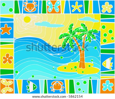 sea background color this image vector stock vector 5862154
