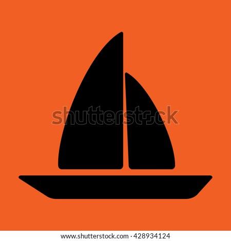 sea boat swimming sailing travel beach icon  - stock vector