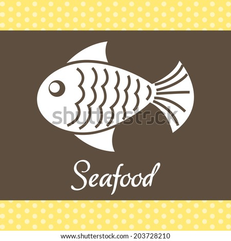 sea food design over cream background vector illustration