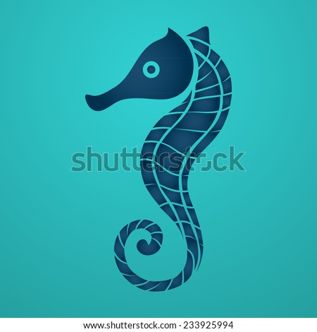 Sea Horse - stock vector